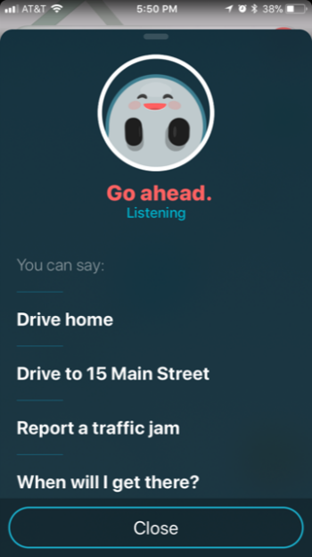 How to use Waze voice commands.