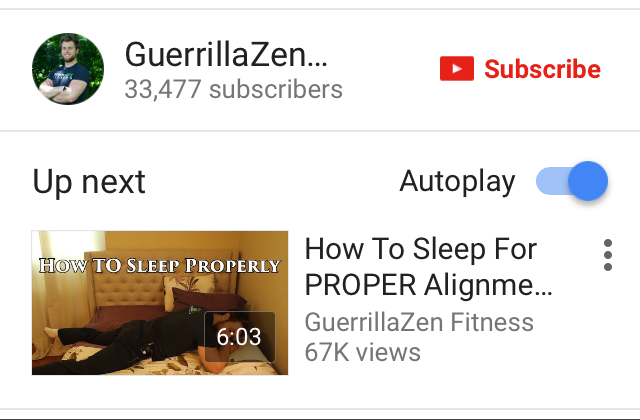 YouTube autoplay ON