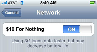 iphone 3G network dead
