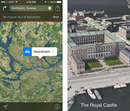 How to take a 3D flyover tour in iOS 8 Maps