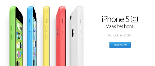 8GB iPhone 5c Netherlands