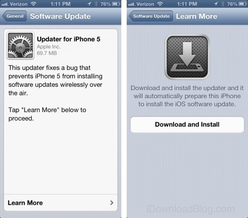 iOS Firmware Update