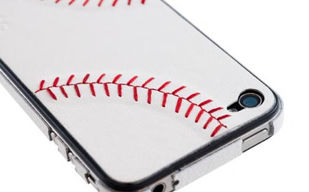 apple iphone skin sportLEATHER ZAGG baseball