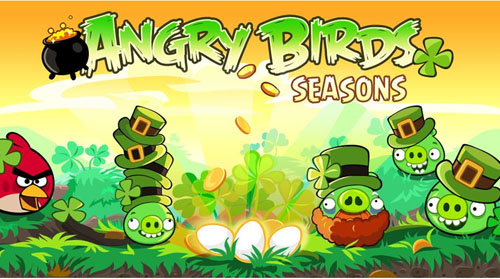 Angry Birds expansion pack Seasons Saint Patricks Day