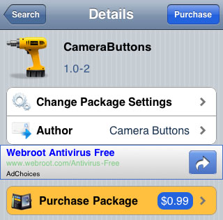 Cydia CameraButtons Tweak