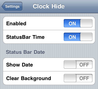 Lockscreen Clock Hide Cydia tweak