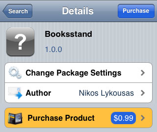 Booksstand iPhone tweak jailbreak