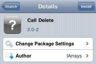 Call Delete Cydia tweak