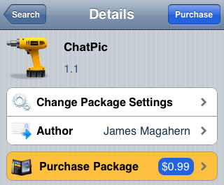 iPhone Cydia app ChatPic