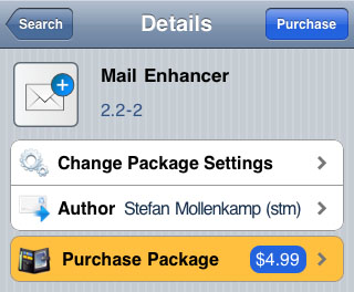 Cydia tweaks Mail improvement Mail Enhancer