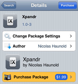Xpandr text shortcut utility Cydia