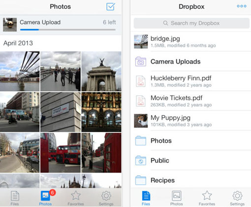 update iOS 7 Dropbox app