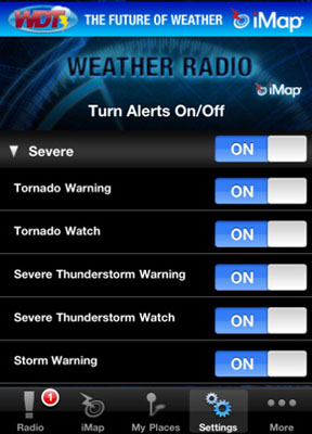 iOS app iMap WeatherRadio free one day promotion