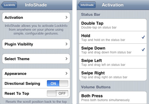 Infoshade iOS 5 Notification Center LockInfo