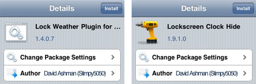 Cydia Weather Plugin Addons LockInfo