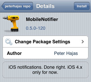 improved notifications MobileNotifier Cydia