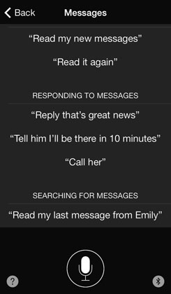 Messages help Siri
