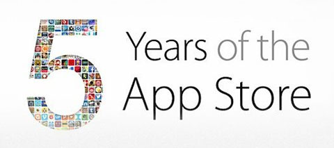 Apple app store 5 year anniversary