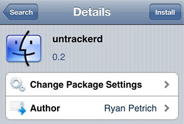 iPhone Tracker Cydia app stop tracking
