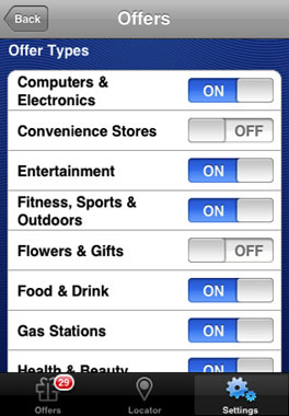 apple iphone app visa deals shopping location services