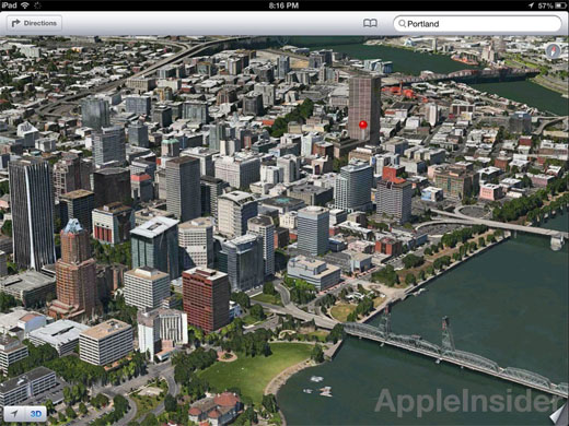 iOS 6 Flyover 3D maps