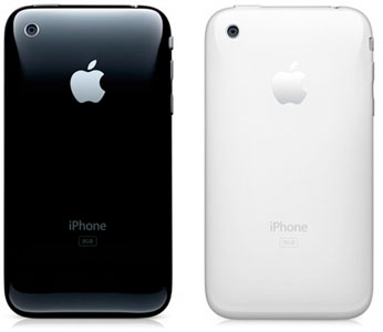apple iphone 3GS back white black