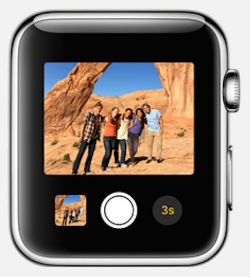 Can the Apple Watch take pictures?