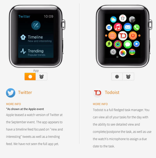 Preview Apple Watch apps at WatchAware.