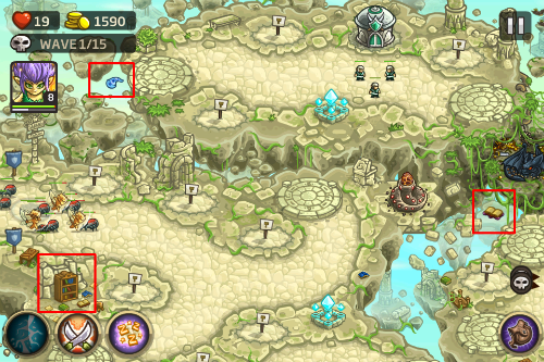 "Kingdom Rush Origins Achievement Sorcerer's Apprentice""  title="