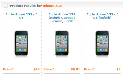 ATT offers refurbished iPhone 3GS one cent