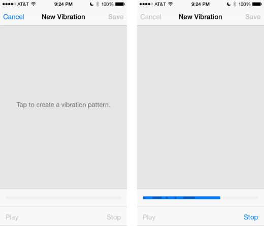 And set your own vibration patterns on iphone apps directories