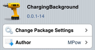 Cydia tweak ChargingBackground