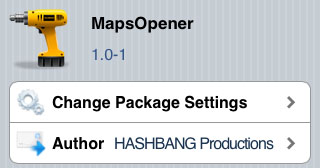 MapsOpener tweak Cydia