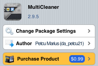 iPhone MultiCleaner tweak Cydia