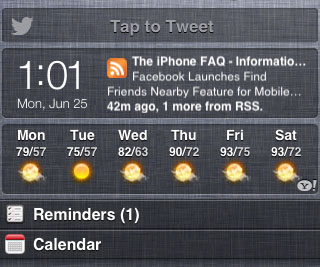 Cydia Twitter Widget iOS 6 demo