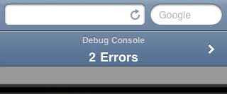 apple iphone safari debug console