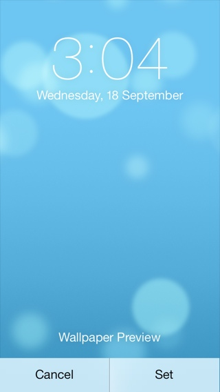 Dynamic Wallpaper IOS 7
