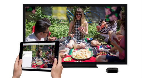 Airplay allows you to stream content from your iOS devices and Mac to your Apple TV via Wi-Fi.