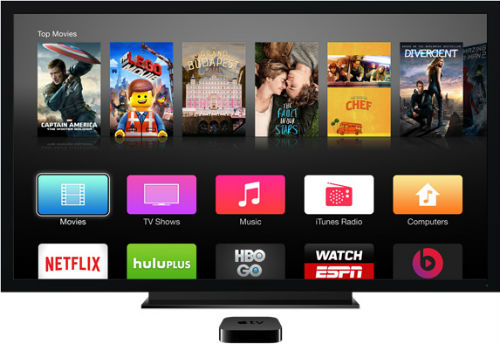 Apple TV currently comes with 60 pre-installed apps.