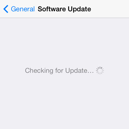 update to iOS 8 OTA