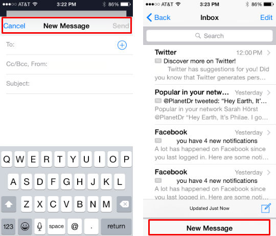 Open multiple emails in iOS 8