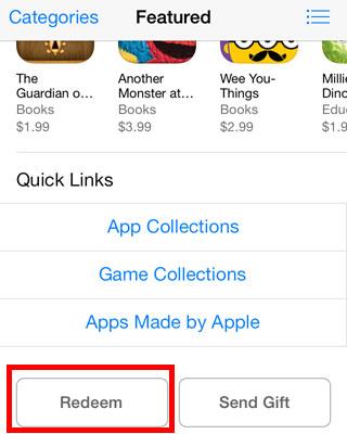 in app promo codes