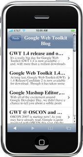 Google Reader for the iPhone