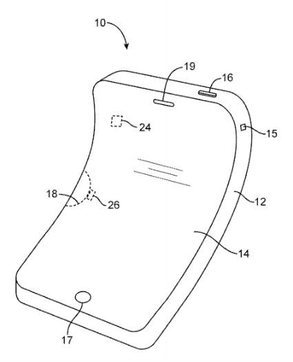 Apple patents flexible electronic devices.