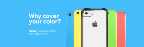 Griffin Survivor Clear for the iPhone 5c