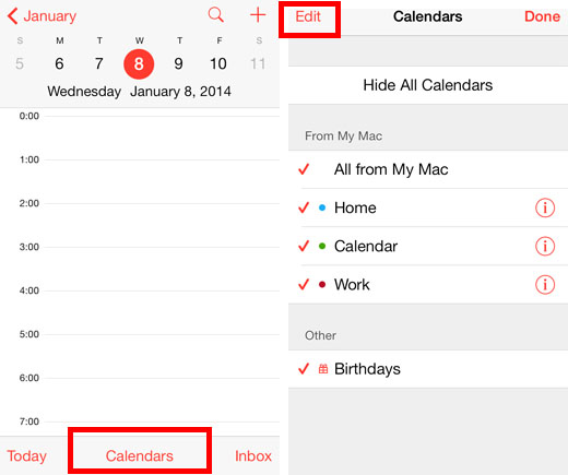 how to delete calendar on iphone add and delete calendars on the iphone with ios 7 the 18710