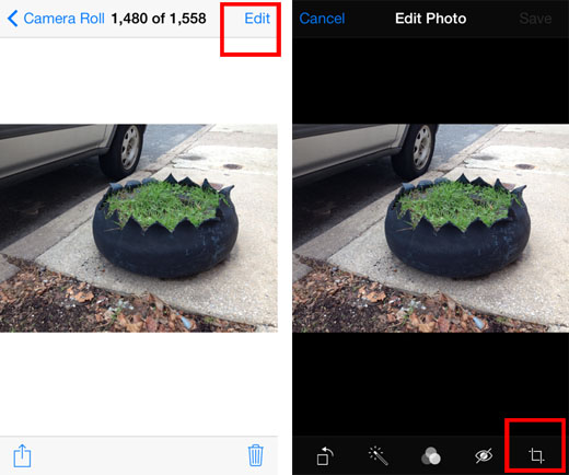 iOS 7 crop photo tutorial