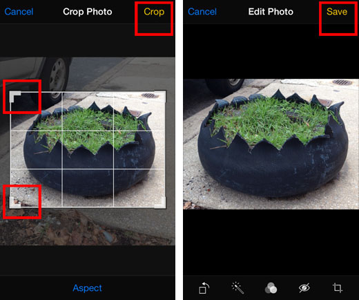 iOS 7 crop photo tutorial 3