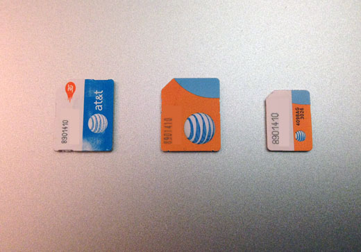 how to cut a sim card to fit iphone 5s