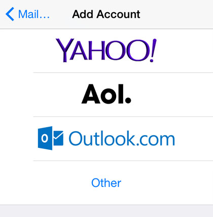 iOS Hotmail account1